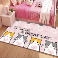 儿童地垫可爱卡通爬行垫卧室地毯房间粉色公主少女床边毯网红ins.