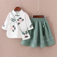 女童连衣裙夏装中国风两件套唐装裙子古风汉服儿童旗袍裙