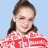 学生上网课防蓝光眼镜儿童男女款防辐射眼镜护目镜手机电脑眼镜TR