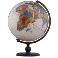 博目地球仪:25厘米中英文政区仿古地球仪(炫影黑架)