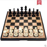 儿童学生国际便携象棋先行者初学者黑白色磁性棋盘棋子