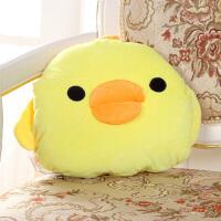 伊暖儿 宠.爱USB动漫可爱电暖宝暖手捂 电热抱枕午睡旅行护腰颈抱枕 靠枕 靠垫(双发热芯) 可爱小鸡