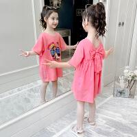 女童连衣裙夏装洋气女孩童装公主裙韩版夏季儿童纯棉裙子
