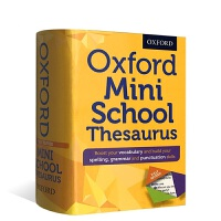 便携迷你牛津英国小学高年级同义词词典 英文原版 Oxford Mini School Thesaurus KS2小字典提