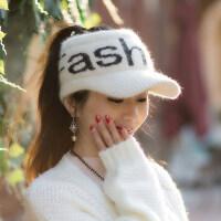 帽子女韩版百搭潮流新款时尚毛线帽女士针织鸭舌空顶帽