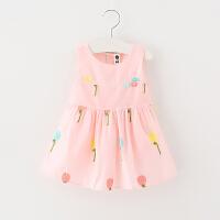 婴幼儿童装女宝宝连衣裙夏季1-3岁小裙子女童背心裙小童童裙