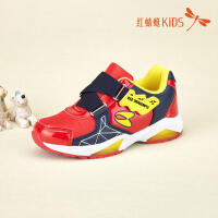 红蜻蜓童鞋韩版网皮拼接面弹力带时尚卡通百搭儿童休闲鞋