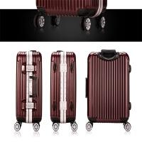 万向轮拉杆箱密码锁旅行箱男女行李箱硬箱登机箱 酒红色 20寸