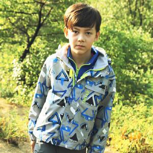 探路者童装 男童风格系列三合一套绒冲锋服
