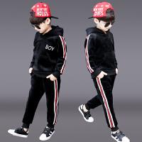 儿童洋气运动男孩帅气衣服两件套潮童装男童冬装套装