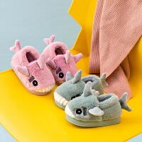 秋冬季宝宝棉拖鞋 包跟防滑1-2-3岁室内可爱卡通男女儿童家居棉鞋