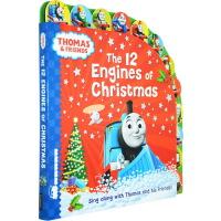 Christmas 圣诞节绘本 Thomas and Friends英文原版 托马斯和他的朋友们 The 12 Eng