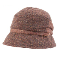 女士秋季时尚毛呢帽子复古冬帽秋冬小礼帽女英伦盆帽
