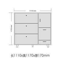 简约现代超薄17CM翻斗鞋柜大容量门厅柜进门玄关柜带换鞋凳多功能 组装