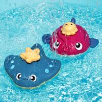 宝宝洗澡玩具电动会喷水动物鸭子男女孩儿童戏水喷泉澡盆游泳玩具