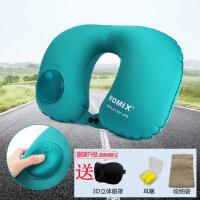 按压式便携充气枕 成人旅游护颈枕 飞机靠枕旅行枕头护脖子 自动充气U型枕