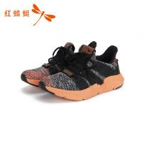 红蜻蜓男鞋运动鞋系带网鞋透气春季潮流网面休闲鞋男运动鞋-
