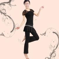 广场舞跳舞服装 新款大码运动健身裙裤套装广场舞舞蹈服装