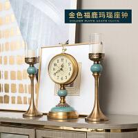 家居装饰品摆件轻奢客厅美式餐边柜实用烛台创意欧式复古座钟玄关