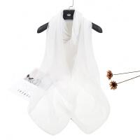 冰丝丝巾女春夏季百搭简约女士披肩两用长款纱巾围巾防晒