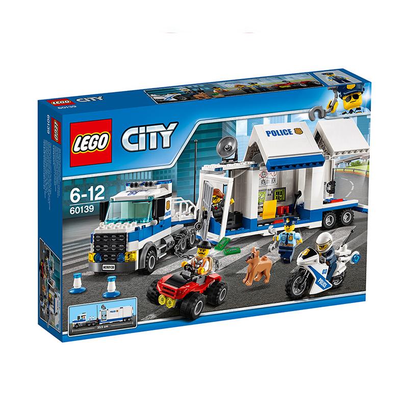 【当当自营】LEGO乐高积木城市组City系列60139 6-12岁移动指挥中心 【实力宠粉 乐享好价】驾驶警车和移动指挥中心,追击越狱的坏蛋!