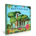 顺丰发货 How Plants Work 植物如何工作 少儿英文原版科普读物 翻翻书 立体书