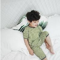 夏季男童睡衣家居服短袖短裤薄款婴幼儿童套装宝宝空调服