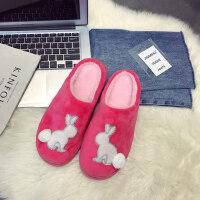 棉拖鞋包跟韩版情侣男女防滑厚底居家室内可爱保暖软底月子鞋