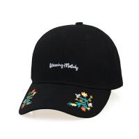 夏季新款女士防晒遮阳帽子 字母刺绣花朵棒球帽 学生时尚 可调节