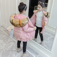 韩版儿童女孩冬季加厚洋气潮棉袄童装女童中长款