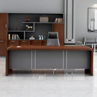 办公家具总裁经理主管办公桌大班台公司简约现代老板桌椅组合