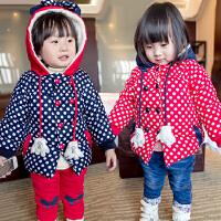 *儿童装女童女宝宝2018新款冬装冬季长款棉衣棉袄外套
