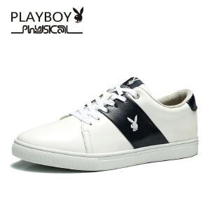 花花公子男鞋 男士休闲鞋板鞋低帮系带小白鞋男潮流鞋子男 德-CX39538