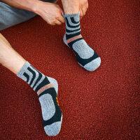 登山袜徒步全厚马拉松毛巾底速干袜户外跑步袜子男士运动袜