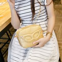 包包新款时尚女包小包包小猫包眼镜链条包女斜挎包潮 银色49元