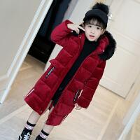 冬装棉衣新款儿童加厚中长款金丝绒棉袄羽绒外套童装女童