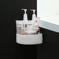卫生间置物架浴室壁挂免打孔收纳架厕所洗手间塑料墙上卫浴三角架