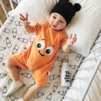 宝宝连体衣夏季新生儿外出服纯棉短袖婴幼儿哈衣爬服婴儿衣服