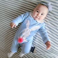 婴儿连体衣服宝宝新生儿哈衣1春装3个月棉8春装0春装季新年