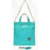 休闲帆布包女包单肩包布袋包学生文艺手提布包购物袋大包包大容量 翠绿色