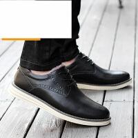 男鞋2017春季新款韩版素面平跟橡胶圆头二层牛皮低帮男休闲板鞋冬款加绒保暖男皮鞋