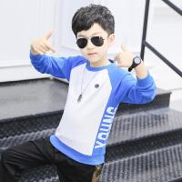 儿童上衣打底衫中大童春秋韩版潮童装男童卫衣套头春装