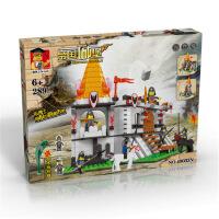 万格正品兼容拼装拼插启蒙益智儿童积木玩具国王城堡49033N