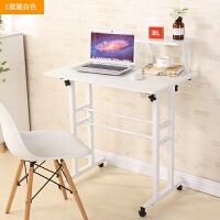 简易电脑桌台式办公家用学生书桌可升降简约现代折叠创意学习桌子