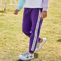 【2件3折价:71】小猪班纳童装女童运动裤儿童裤子春夏长裤2020新款打底裤外穿洋气