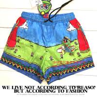 儿童短裤 2017夏款 男童恐龙卡通风衣面料 超薄短裤 薄 软
