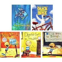 No David Duck on a Bike 英文原版 大卫不可以系列 彩虹鱼 鸭子骑车记 5册绘本全套装 吴敏兰书单