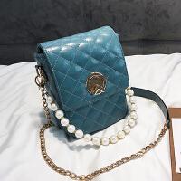 仙女小包包女2018新款潮韩版百搭斜挎包链条单肩珍珠手提包小方包