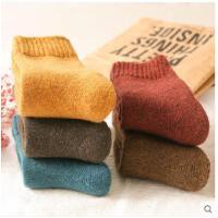 季袜子女羊毛袜中筒加厚毛圈月子孕妇袜睡眠袜加绒保暖袜