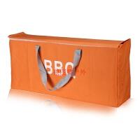 烧烤炉便携收纳包烧烤架手提袋背包袋子 拉链款橘黄色 拉链款82*35*20cm